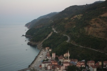One of many descents along the Black sea coast