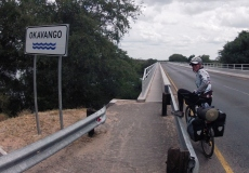 Crossing the Okavango.