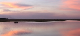 Sunset over Chobe National Park.